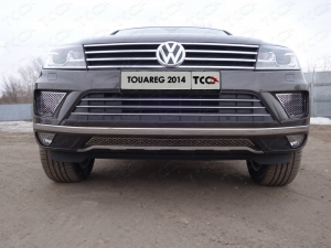 Volkswagen Touareg 2014 Решетка радиатора центральная (лист)